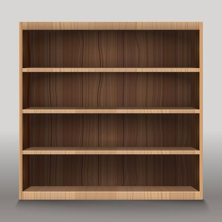 showrooms: Empty shelves vector illustration. Template for a content Illustration