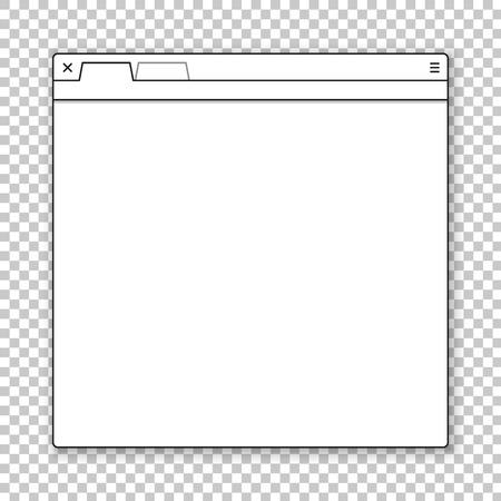 Modello di finestra del browser aperto. Passato il tuo contenuto in esso
