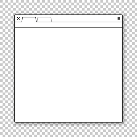 public folder: Opened browser window template. Past your content into it