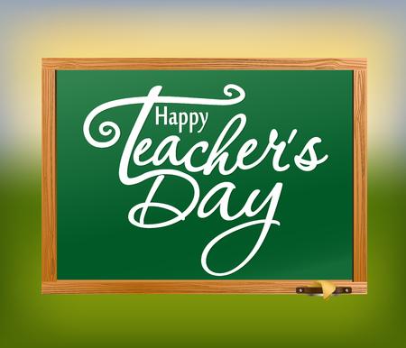profesores: Feliz tarjeta de felicitación Día del Maestro. Vectores