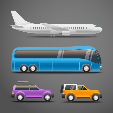 motors: Different vehicles vector illustration Illustration