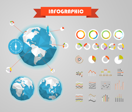population growth: Infographic elements template. Statistic charts ratings vector clip-art