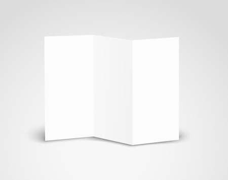 cardbox: Blank white booklet vector template. Vector mockup. Template for a text