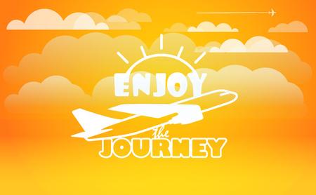 illustration journey: Travel vector illustration. Enjoy journey concept