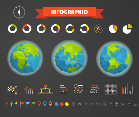 ratings: Infographic elements template. Statistic charts ratings vector clip-art