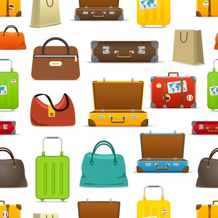 cambio de color colección de bolsas vector diferente. patrón sin fisuras