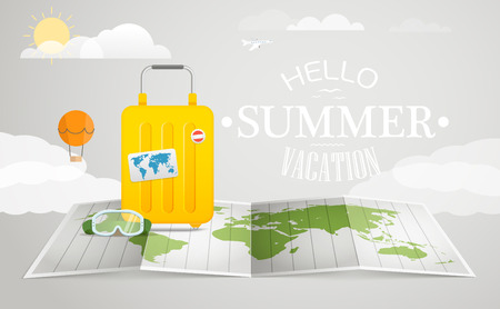 travel bag: Travel bag vector illustration. Vacation concept with the bag