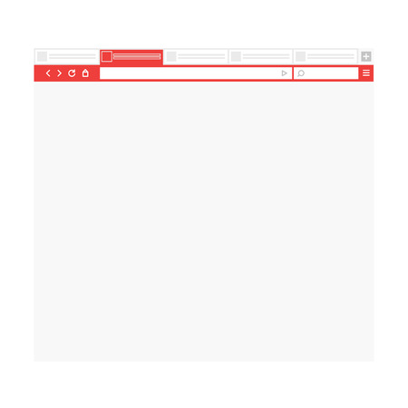 web browser: Opened browser window template. Past your content into it. vector empty browser mockup Illustration