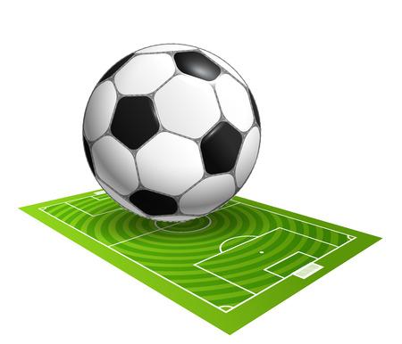 Fútbol ilustración vectorial campeonato