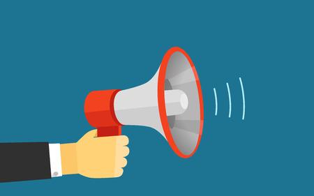 Voix forte du vecteur de haut-parleur illustration. Modèle pour un contenu