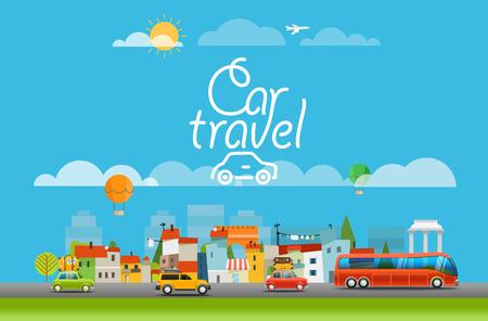monumento: Vacaciones viajar concepto. viaje del ejemplo del vector