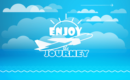 seacoast: Travel vector illustration. Enjoy journey concept