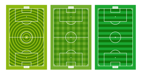 offside: Different green football fields collection