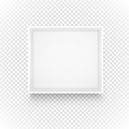 realictic: Empty picture frame isolated on transparent background Illustration