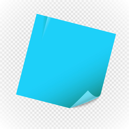 realictic: Blank paper note sheet isolated on transparent background. Template for a text