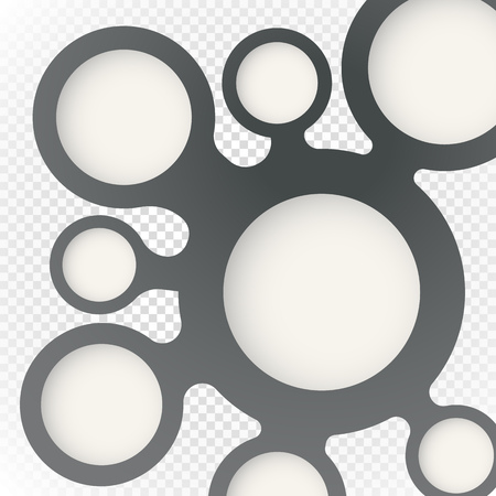 blot: Abstract blot scheme on transparent. Template for a text