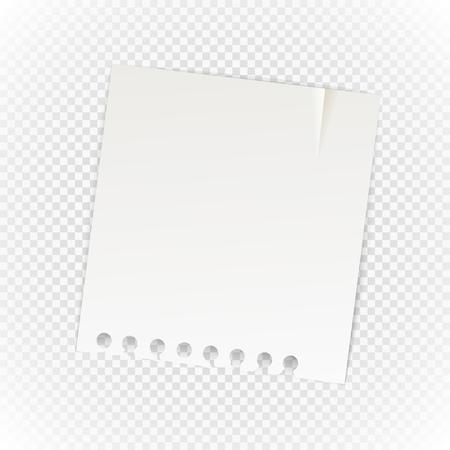 feuille de papier Old isolé sur fond transparent