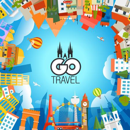 Travel concept vector illustration. Go travel
