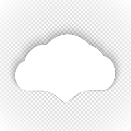 speech cloud: Speech cloud template on transparent background Illustration