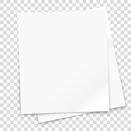 photographic: Vector paper frame isolated on transparent background. Vector illustration Illustration