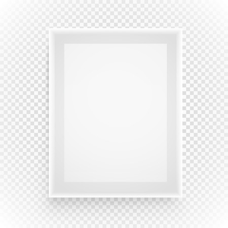 background picture: Empty picture frame isolated on transparent background Illustration