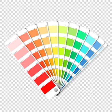 Kleurenpalet gids op transparante achtergrond Stock Illustratie
