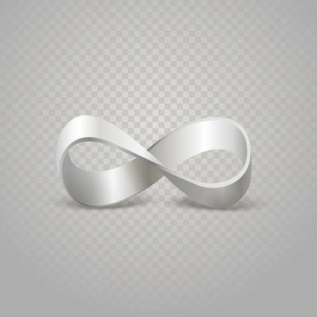 limitless: Infinity silver sign on transparent background