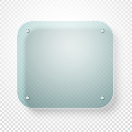 advertising text: Advertising glass board on transparent background. Place your text Illustration