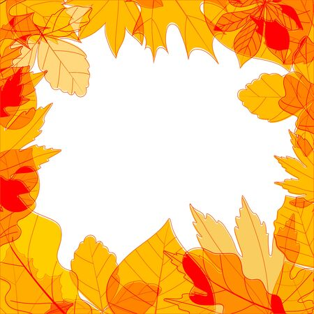 copyspace: Color leaves season vector concept. Copy-space