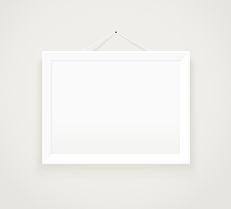Photorealistic picture frame. Presentation  template Illustration