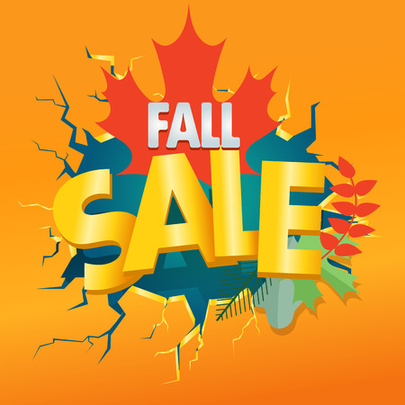 shopping sale: Shopping special offer template. Fall sale
