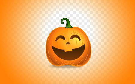 Color pumpkins silhouette on transparent background