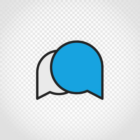 speech icon: Speech clouds vector icon on transparent background