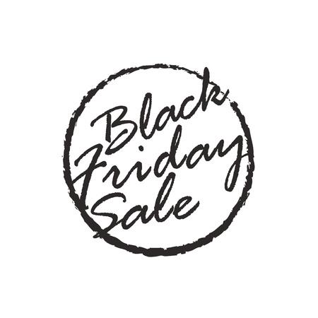 総: 黒い金曜日販売ロゴ デザイン テンプレートです。黒い金曜日ロゴ白で隔離  イラスト・ベクター素材