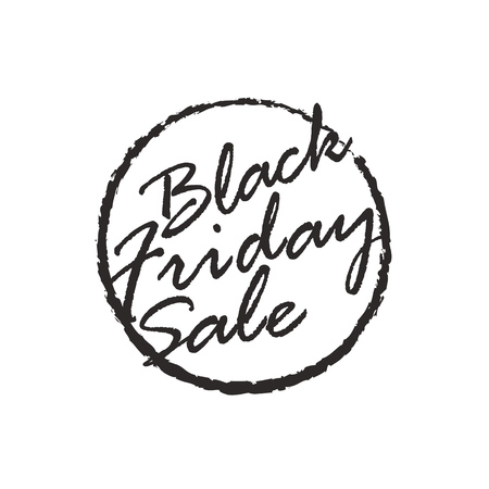 Black Friday sale logo design template. Black Friday  logo isolated on white