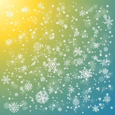 holyday: Snowfall in winter abstract background
