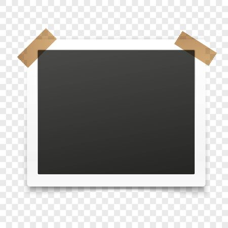 picture card: paper frame isolated on transparent background. illustration