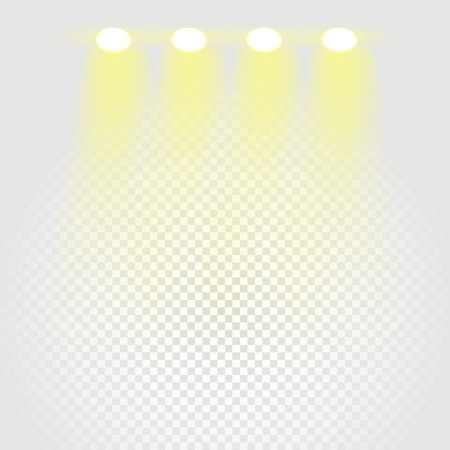 night club interior: Brighting stage vector layout Illustration