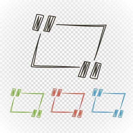 Handgetekende citaatuitleg. Ontwerpelementen Vector Illustratie