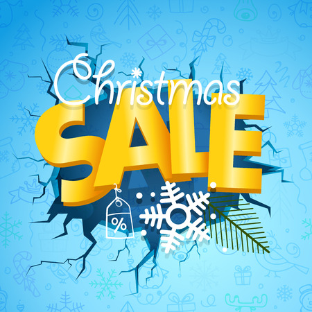 Winter season sale banner. Christmas sale concept