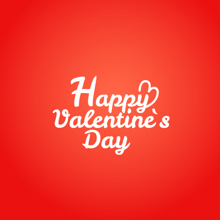 Happy valentines day wishes greeting card. Valentines vector label Illustration
