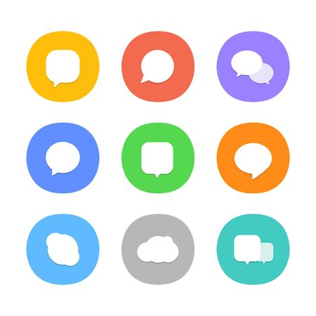 social web: Different color web icons. Social media pictograms template