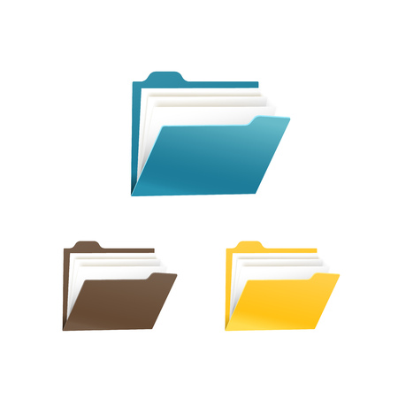 directory: Different color office folders collection isolated on white