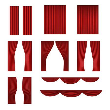 cortinas rojas: Diferente etapa de recolección de cortinas rojas