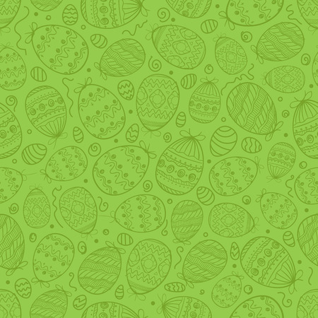 Happy Easter seamless background. Vector seamless pattern of easter elements Illustration