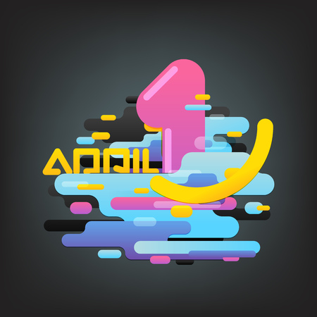 April fool concept. Abstract composition of different color clouds. Abstract vector background