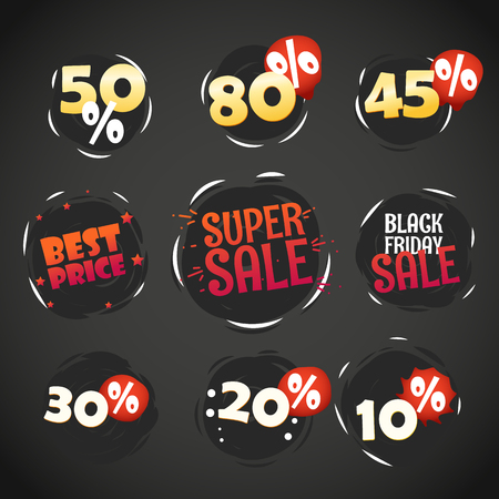 sale tags: Different shopping labels. Sale tags
