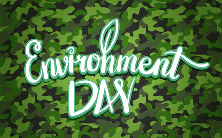 World environment day hand lettering design. Vector illustration