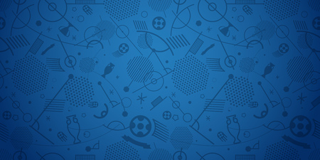 Soccer championship abstract background vector illustration