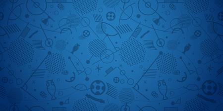 soccer goal: Soccer championship abstract background vector illustration